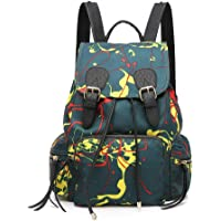 Zhoulimei Daypack Mochila para Portátil, Señora Moda Mochila Monedero Niñas Mensajero Casual Bolsa de Hombro Mochila Viaje Ocio Bolso Regalo 2 en 1 Unidades Hombres Mujeres Casual Backpack