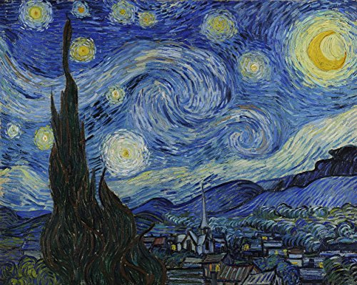 Starry Night by Vincent Van Gogh - Oil Painting Reproduction on Canvas Prints,High definition print. by Art Jewelry