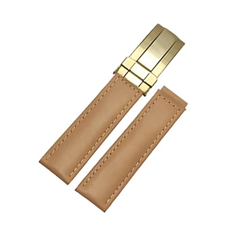 [エイト]腕時計ベルト 20mm ブラウンスムースxゴールド レザー ELB078 [並行輸入品]  B01N4D4237