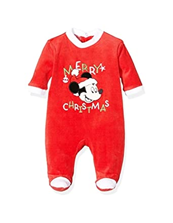 427e6ac6f004b Pyjama noël bébé Mickey  Merry Christmas  Rouge de 3 à 23mois - Rouge