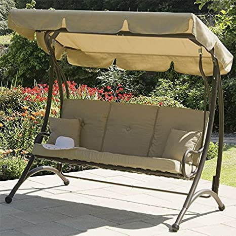 Transcontinental Group Ferndown 3 Seat Swing With Cushions Amazon Co Uk Garden Outdoors