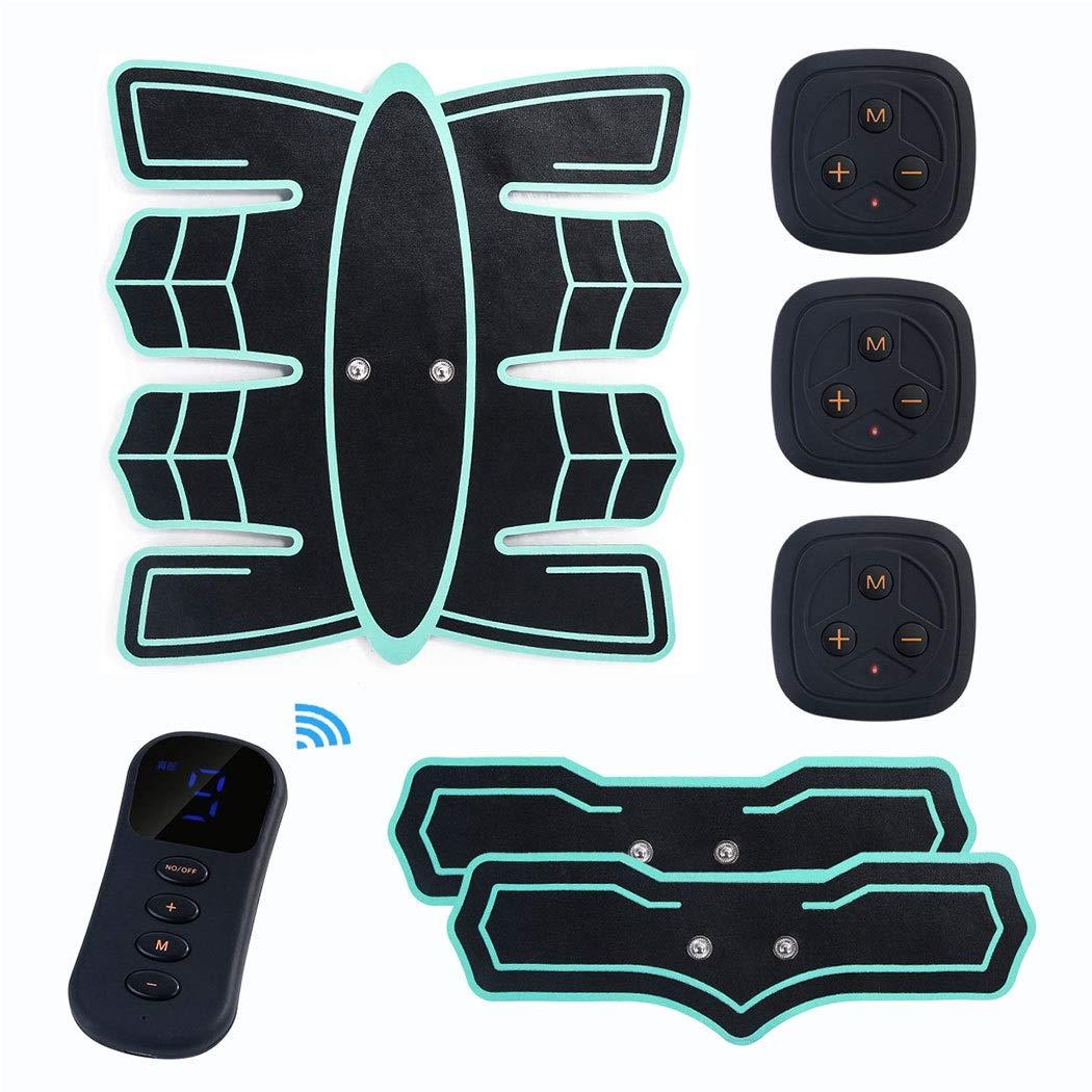 HUIFA Usb腹筋スマートワイヤレスリモコン充電マッサージャーホーム怠惰なスポーツフィットネス機器腹部機器 あなたを健康で強くすることができます  緑 B07Q82YTNJ