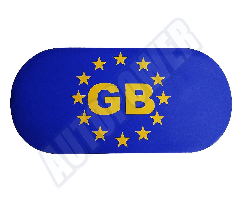 GB EU European Travel Car van Magnetic White Badges Plate Sticker France Spain