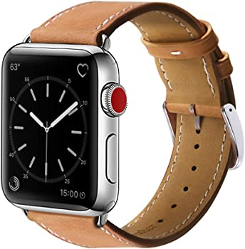 Marge Plus 42mm Genuine Leather Apple Watch Band