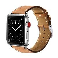 Pulseira De Couro para Apple Watch 42mm Marge Premium Marrom