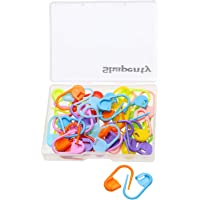 Shapenty Knitting Crochet Locking Stitch Markers DIY Craft Plastic Safety Pins Weave Stitch Needle Clip Counter, 22mm…
