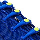 Hickies 1.0 No-tie Elastic Shoelaces - Blue Yellow (one-size Fits All, 14 Hickies Laces, Works In All Shoes) | amazon.com