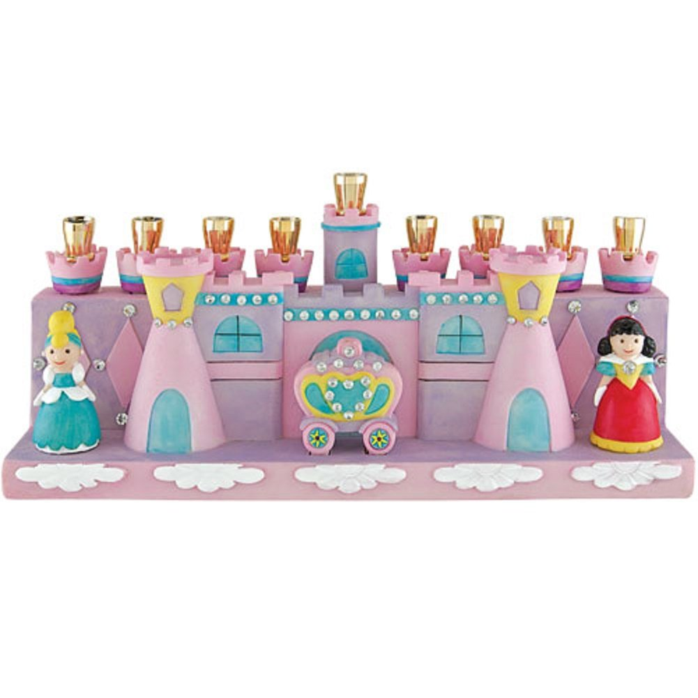 Aviv Judaica 24005 Princess Menorah White