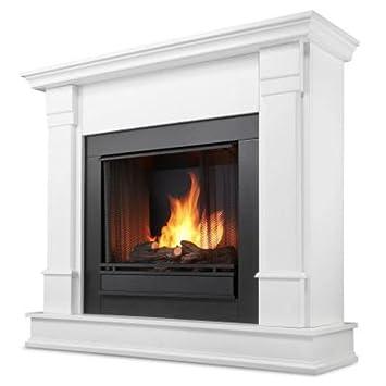 Amazon.com: Silverton Gel Fireplace in White: Home & Kitchen