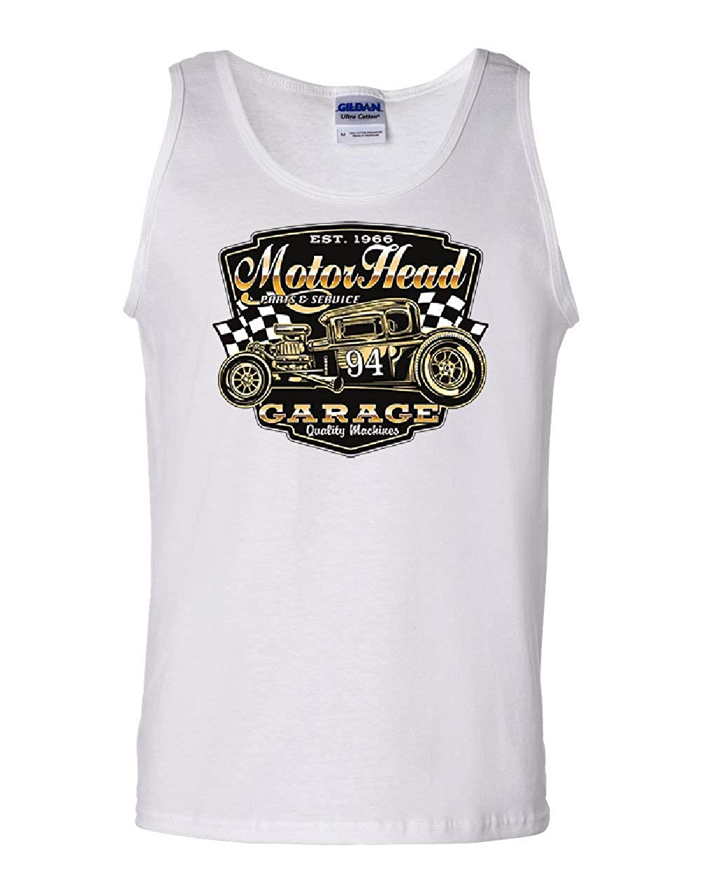 Motorhead Garage Tank Top Route 66 Hot Rod American Classic Retro Sleeveless