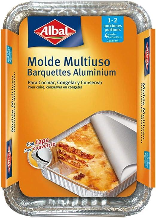 Albal Aluminio 21x15x4 Centímetros con Tapa | Desechables ...