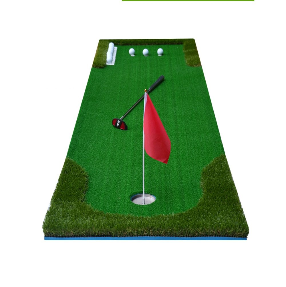 TLMY ニューインドアゴルフパッティンググリーントレーナー 人工ブランケットセット ゴルフマット 0.5 * 3m 025 B07GP1B3V9 Not With the Ball Back 0.5*3m