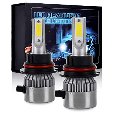 ECCPP 9007 LED Headlight Bulb Hi/Lo Beam White Fog Lights Conversion Kit - 80W 6000K 10400Lm - 3 Year Warranty(Pack of 2): Automotive