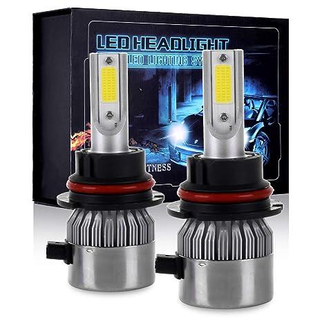 Eccpp 9007 Led Headlight Bulb Hi Lo Beam White Fog Lights Conversion Kit 80w 6000k 10400lm 3 Year Warranty Pack Of 2