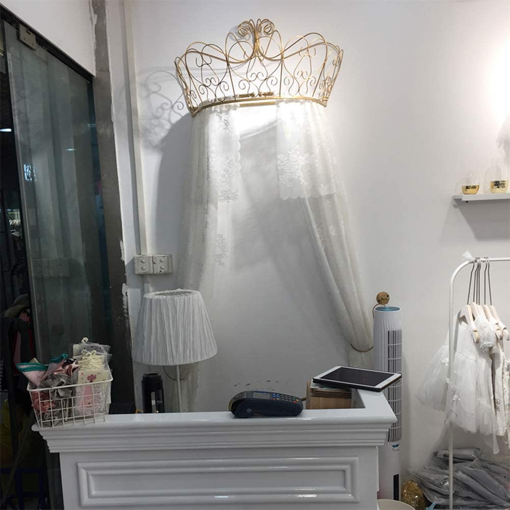 HOMEJYMADE Crown Dome Mosquito net,Princess Bed Canopies Kids Play House Princess Tent Sparkly Stars HOT in Instagram-F 1.8m