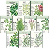 Botanical Interests Non-GMO Starter Herb Garden Seed Collection - 10 Packets with Gift Box