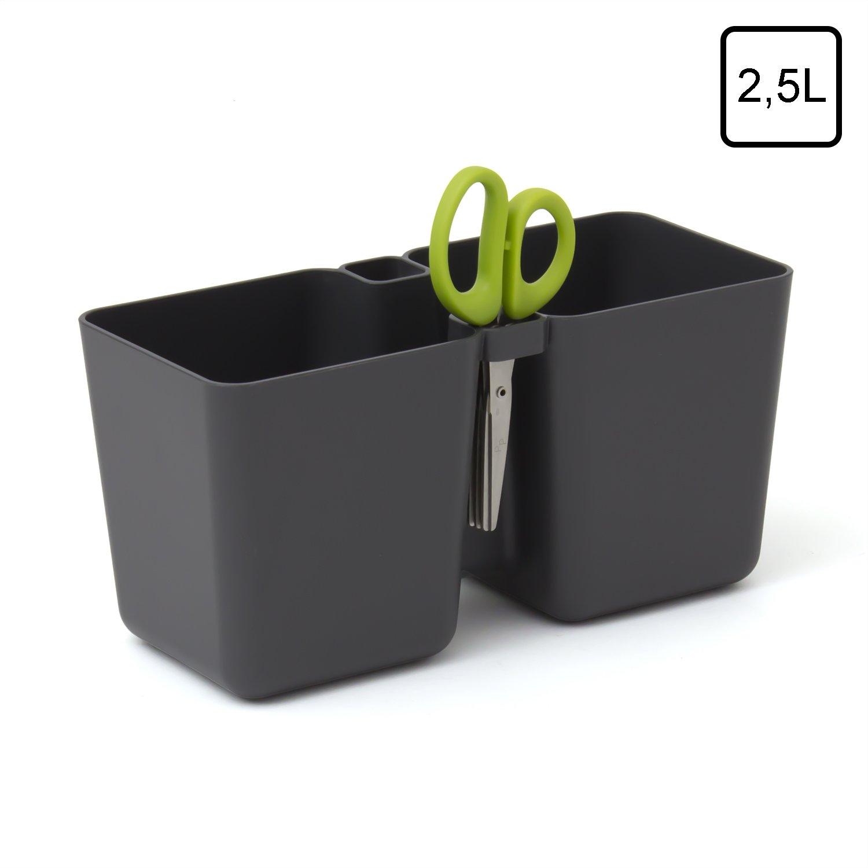 Graphit Kräuter Blumen Kunststoff-Topf Twins Cube mit Kräuter Schere ...