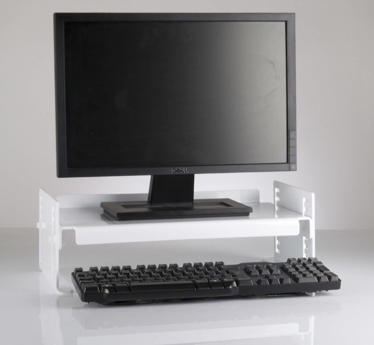 Desktop Innovations Black Height Adjustable Monitor Stand