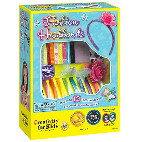 Large Product Image of Creativity for Kids Fashion Headbands Craft Kit, Makes 10 Unique Hair Accessories