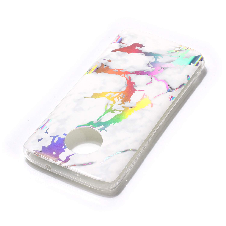 3D Shiny Marble Glitter Ultra Thin Slim Back Skin Full Body Protective Soft TPU Rubber Bumper Case Phone Cover for Motorola Moto G6//Moto G 6th Generation-Black DAMONDY Moto G6 Case