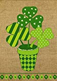 Cheap Briarwood Lane Potted Shamrock Burlap St. Patrick's Day House Flag 28″ x 40″