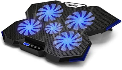 TopMate C7 Laptop Cooling Pad Up to 156 Inch Gaming Laptop Cooler  5 Quiet Fans with Blue Led Lights 2 USB Ports  Ocean Blue Trim Design at Kapruka Online for specialGifts