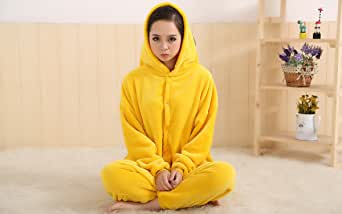 Deal Anime Pokemon Pikachu Romper Pajamas Costume Cosplay Outfit Size M