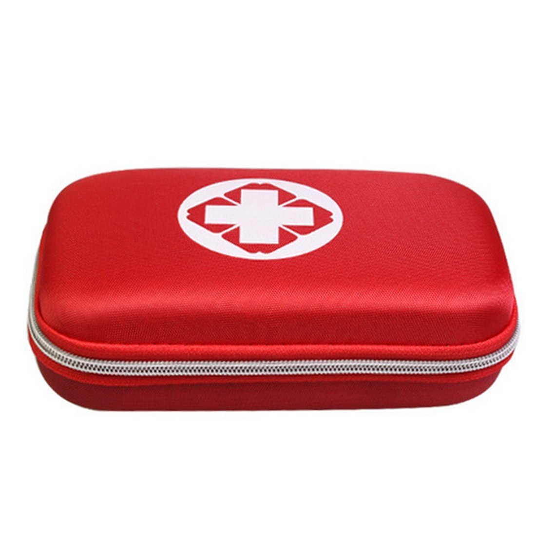 Lanticy First Aid Pouch Box, Empty Waterproof Medicine Storage Bag Portable Medical Package Emergency Medical Kit Survival Medicine Pills Pocket Container Perfect for Home Car Travel Outdoor (Red)