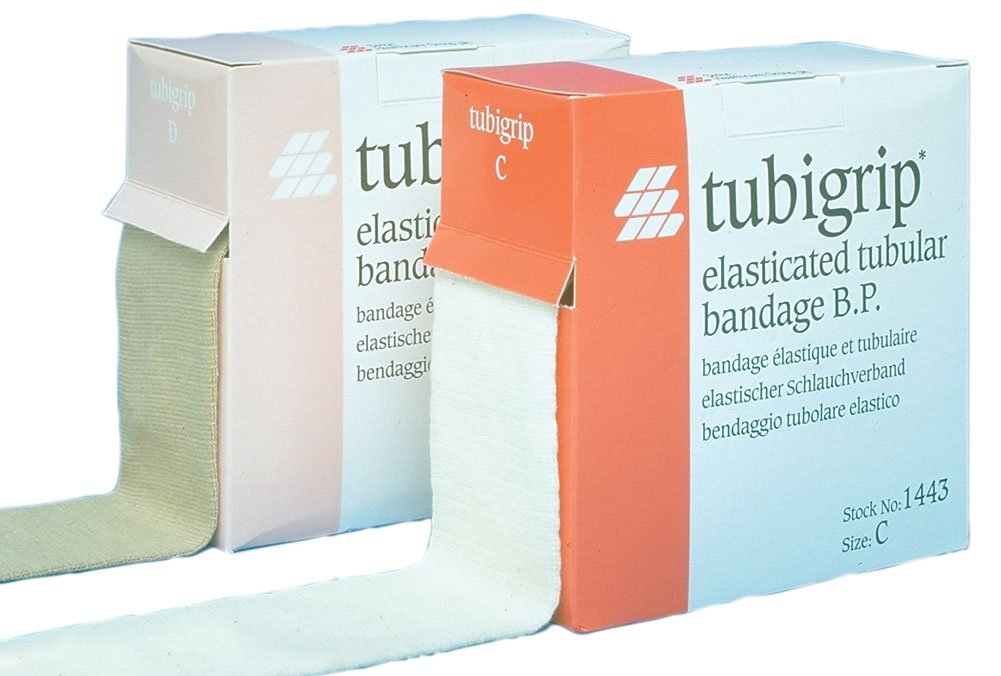 Tubigrip, Natural, Size F, 4 inch diameter