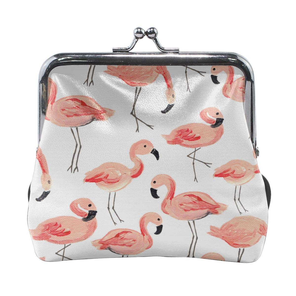Exquisite Flamingos Key Buckle Coin Purse For Womens