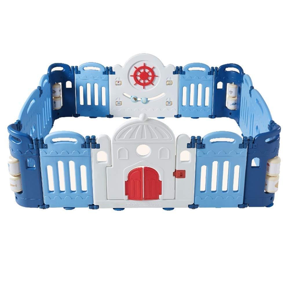 Faltbarer Kompakter Babyspielzaun - Babyschloss Play Pen Fence - Aktivitätscenter Für Baby-Sicherheitsspiele - Tragbarer Raumteiler Kind Kinder Barriere (Größe   20panels -214x178x60cm)  16panels -178x143x60cm
