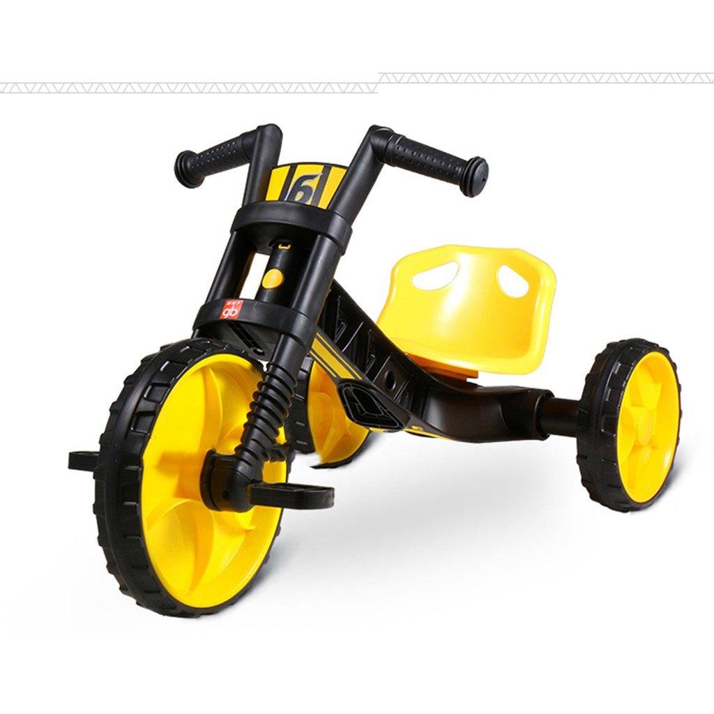 Guo shop- Niño triciclo mano empuje pequeño triciclo bicicleta multifunción coche de juguete Walker 1-3-6 años de edad niño bebé bicicleta bicicletas para niños