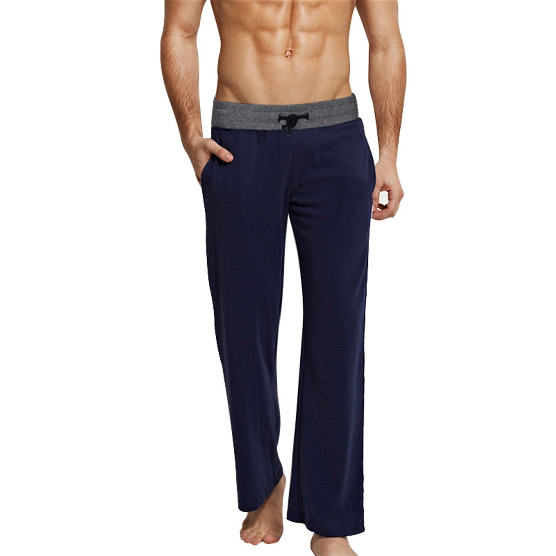 Orcan Bluce Mens Sleeping Trousers Cotton Pajamas Pants Homewear Loose Lounge Pants 5XL 6XL Drawstring Sleep Bottoms at Amazon Mens Clothing store: