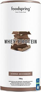 foodspring Proteína Whey, Sabor Chocolate, 750g, Fórmula en ...