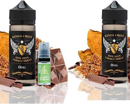E Liquid Kings Crest Don Juan Tabaco Dulce 100ml (Pack 2 unidades) - 70vg 30pg- booster shortfill -