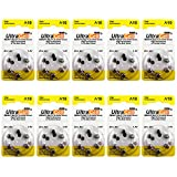 Hearing Aid Zinc Air Batteries A10 Size: 10 (60 Batteries)