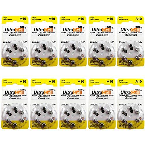 UPC 616929575347, Hearing Aid Zinc Air Batteries A10 Size: 10 (60 Batteries)
