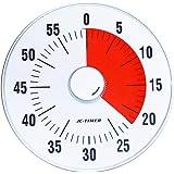 Wincle カウントタイマー 19cm カチカチ音の静かなクオーツ駆動 時間感覚を養い 時間管理 に適した アナログ タイマー (0〜60分計測可能) 時間管理の為のお役立ちツール