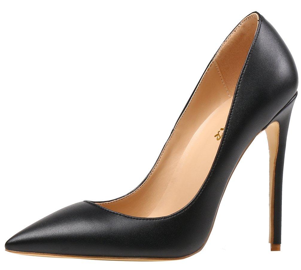 AOOAR AP09N - Zapatos de Vestir de Sintético para Mujer 37 EU|Schwarz/Pu
