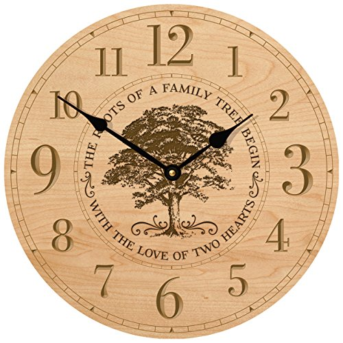 Parent Wedding Anniversary Gifts for parents Modern Decorative desk Wall Clocks Housewarming ideas for Couple him her The roots of a family Tree begins with the Love 12