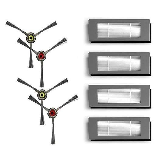 Simke - Filtro y cepillo lateral para aspiradora Ecovacs Deebot ...
