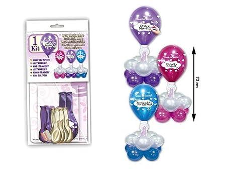 Lote de 6 Kits Centro de Globos Boda Personalizables Colores ...