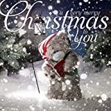 Me To You Tatty Teddy 3D Holographic Card - Merry Christmas Teddy singing carols