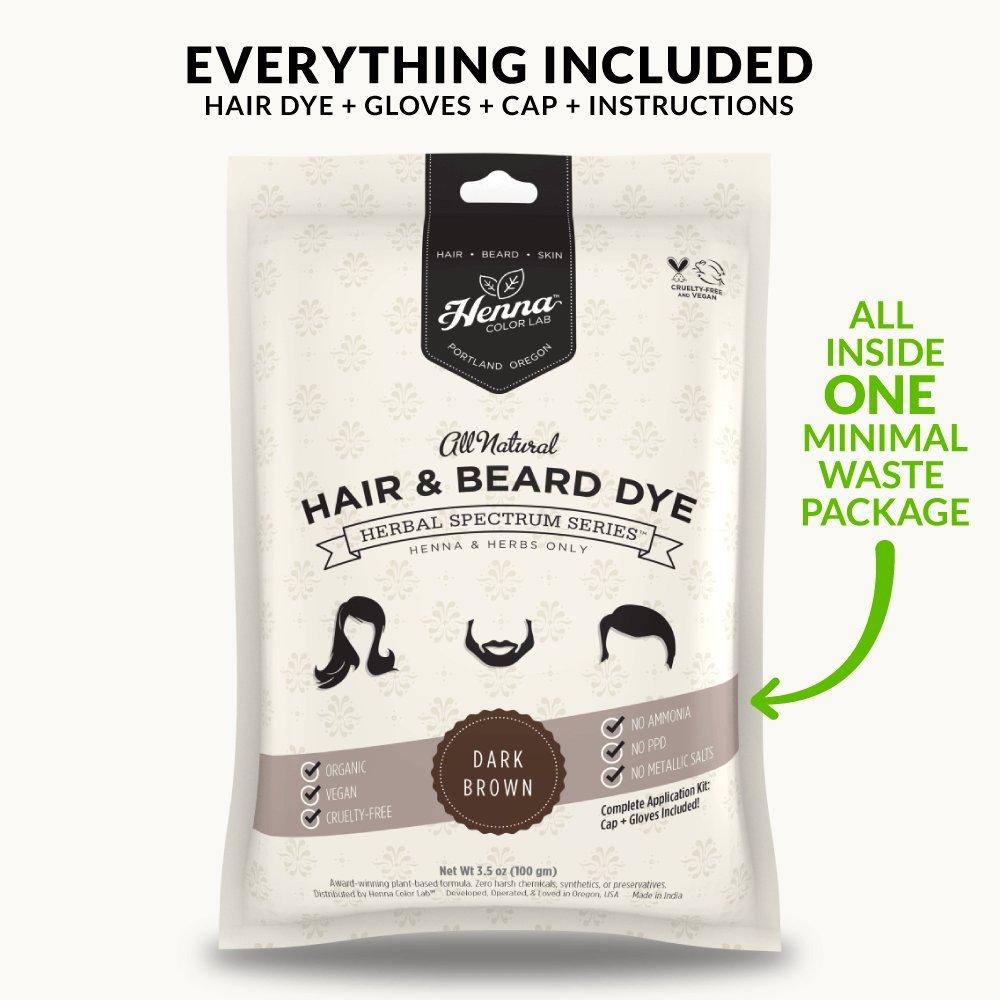 Amazon Com Henna Color Lab Henna Hair Dye Dark Brown Beauty