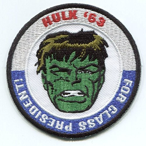 "Marvel Comics Avengers Hulk For President 3"" Embroidered Patch (Can Be Ironed Or Sewn On) (with Free Gift Bag)"