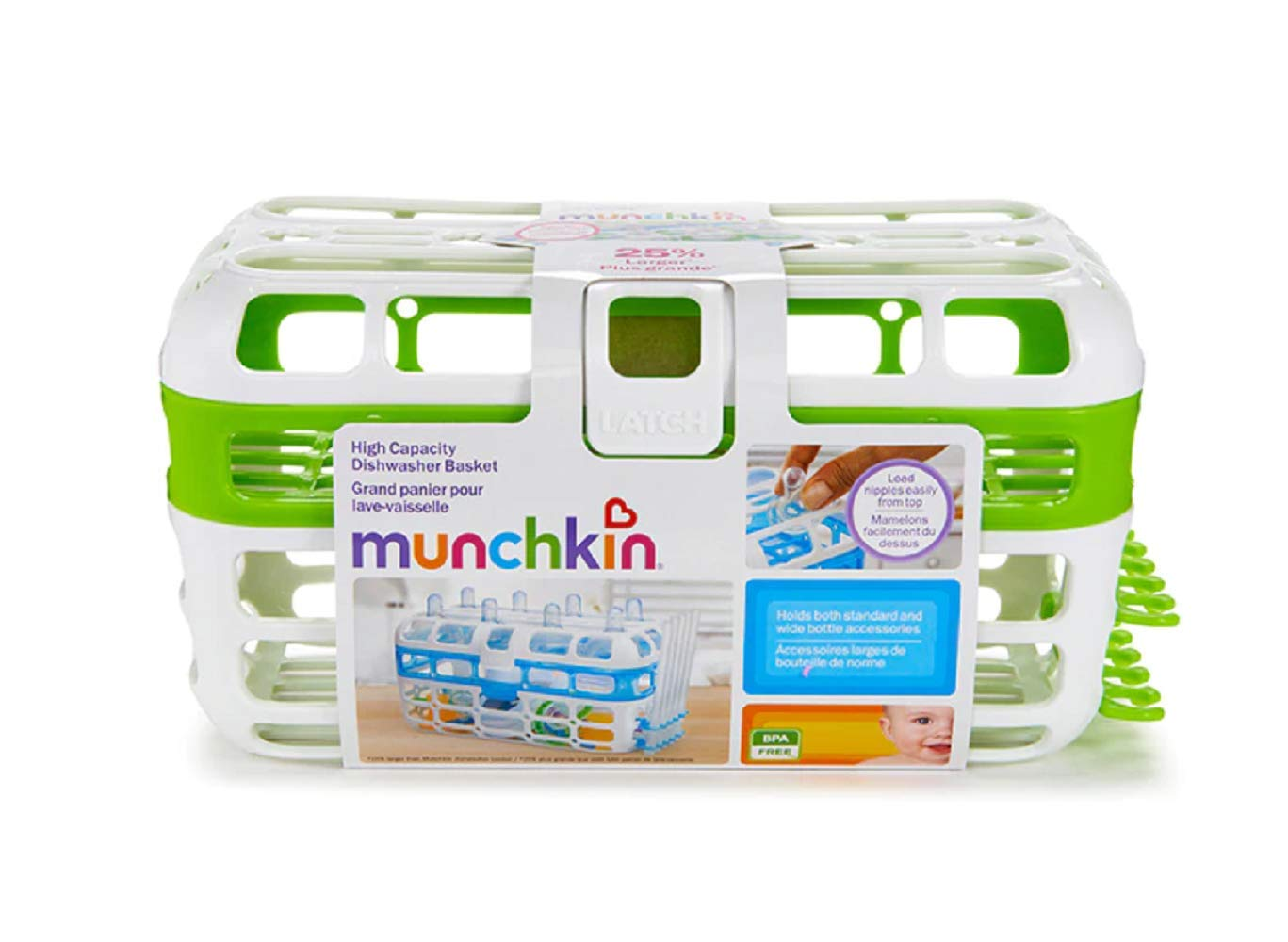 Munchkin High Capacity Dishwasher Basket, Assorted Colors by Munchkin