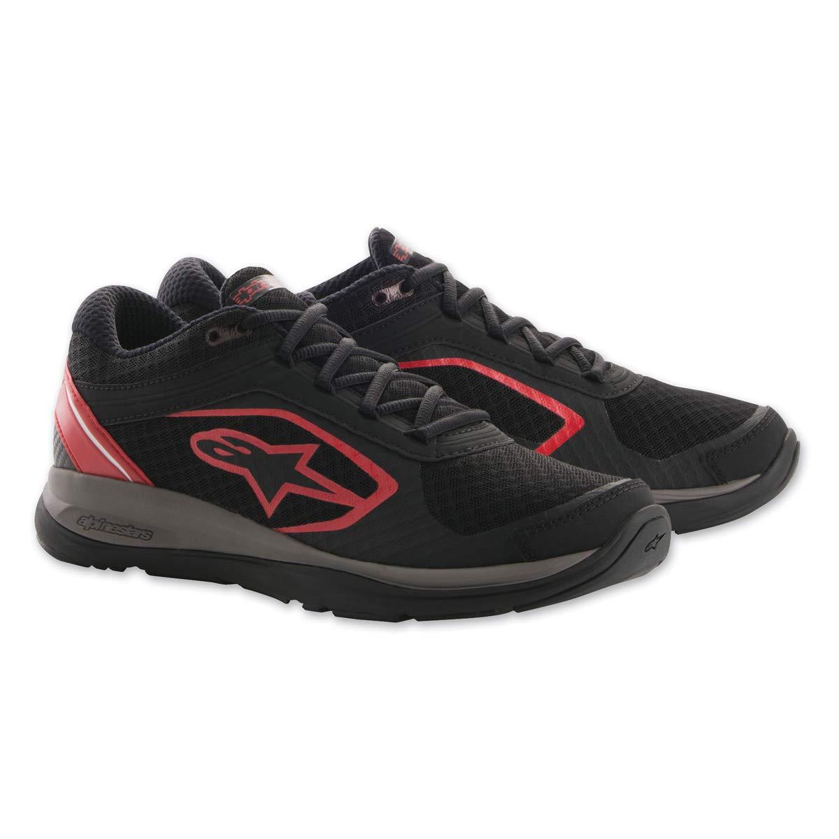 Alpinestars Men's 265401813-11 Shoe (Black/Red, Size 11)