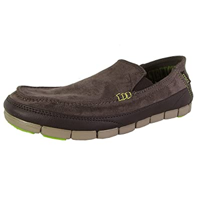 8a31633a3fc Crocs Mens Stretch Sole Microsuede Loafers