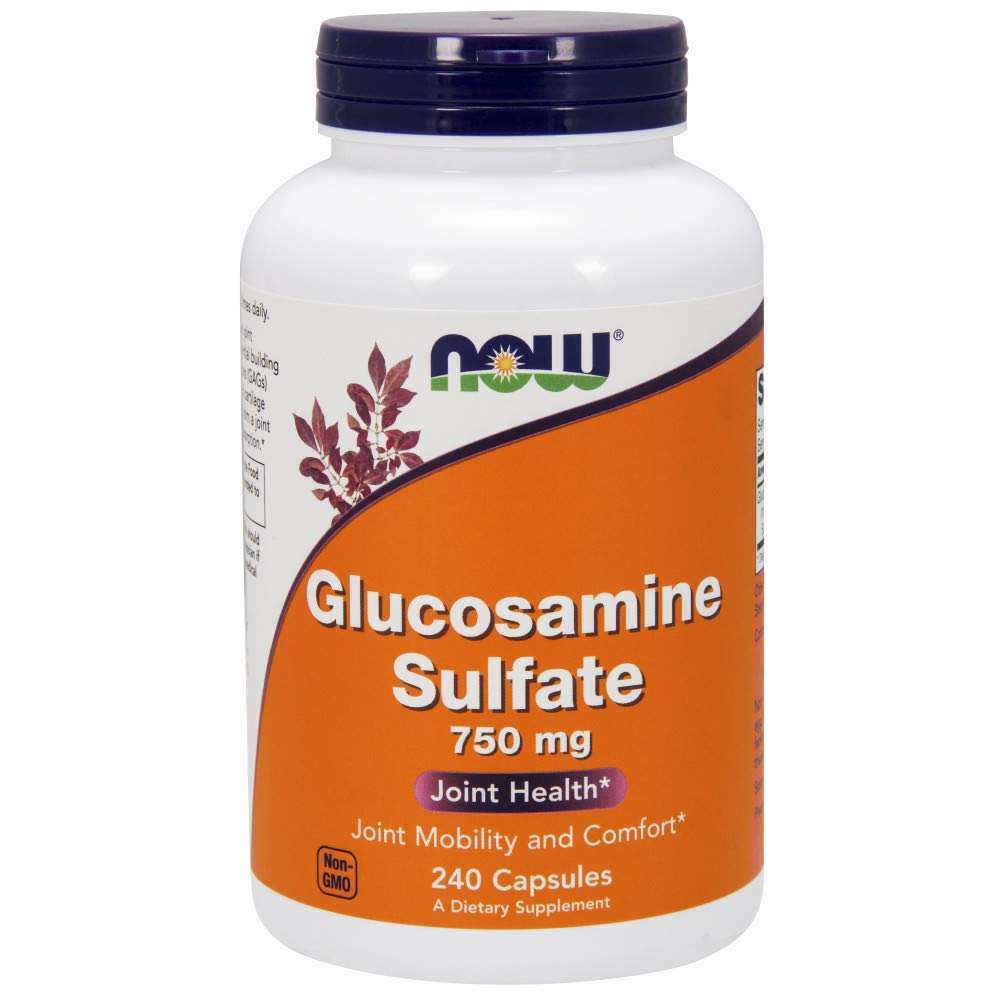 NOW® Glucosamine Sulfate, 750 mg, 240 Capsules by NOW (Image #1)
