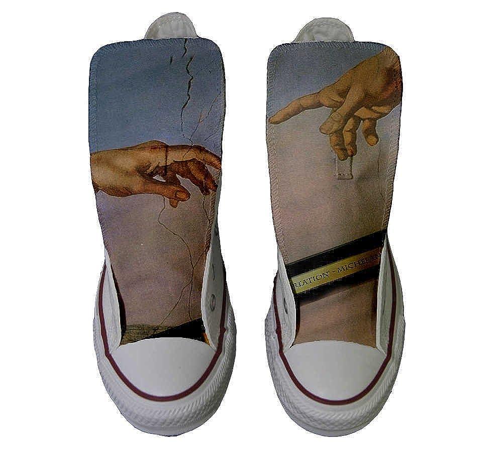 Converse All Star Handmade personalisierte Schuhe - Handmade Star schuhe - giudizio universale - TG33 3a577c
